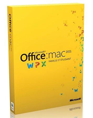 Office Mac Famille et Etudiant 2011, 3 postes