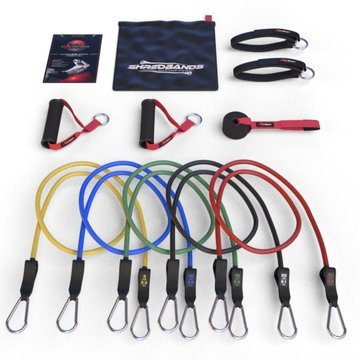 *FLASH SALE* Resistance Bands Best Heavy Duty AntiSnap Technology 11pc Set Including Superior Door Anchor Attachment Ankle Strap for Legs Workout & Carry Case Free Ebook With 20 Fat Burning Exercises & Workouts
