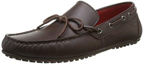 Hackett London Moccasins Bow Leather - Mocassino per uomo, Marrone, 45