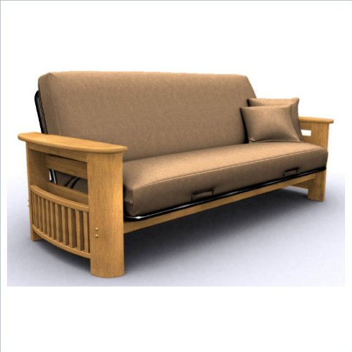 Check Out This American Furniture Alliance Portofino Metal/Wood Frame Full, Golden Oak