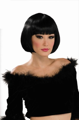 Forum Novelties Women's Chic Bob Costume Wig, Black, One Size - 1