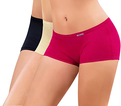 1-or-3-Pack-Laura-Womens-Classic-Cotton-Boyshort-Super-Comfort-High-Quality