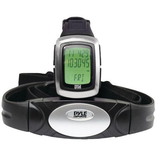 Pyle Sports Phrm26 Speed And Distance Heart Rate Watch With Usb And 3D Walking/Running Sensor