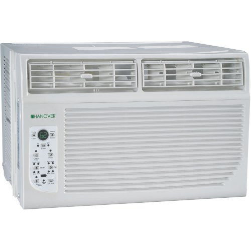 Hanover HANAW10A Energy Star 10,000 BTU 115 Volt Window Mounted Air Conditioner with Follow Me LCD Remote Control
