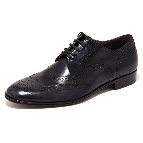 90437 blu scarpa DOLCE&GABBANA D&G DERBY calzatura uomo shoes men [5.5]