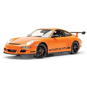 welly porsche 911 gt3 rs orange voiture miniature 1 18 jeux et jouets. Black Bedroom Furniture Sets. Home Design Ideas