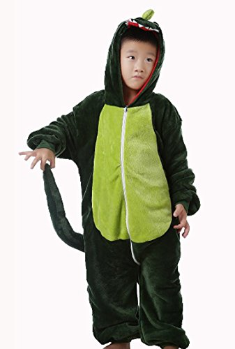 Womdee Boy Girl Cute Animal All In One Pajama Onesies Sleepsuit(Dinosaur,115) With Womdee Accessory front-648131