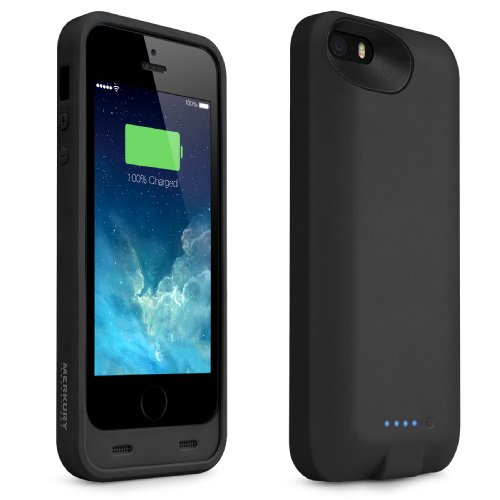 Merkury Energy Jacket Apple Certified Dual Protection Battery Case for iPhone 5, iPhone 5s (Black)