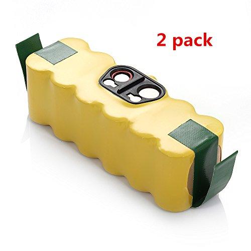 2Pack Roomba Battery 14.4V 3500Mah front-574794