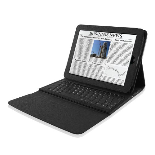 Hip Street HS-IPADCASE2-3IN1 Venture Case for iPad 2 with Bluetooth Keyboard (Black)