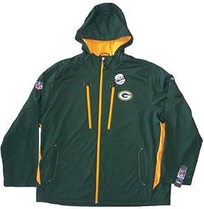 Green Bay Packers Reebok Size XX-Large NFL Sideline Middleweight Jacket 2XL by Reebok