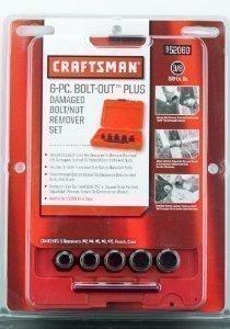 Craftsman 6 Piece Bolt-Out Set Damaged Bolt/Nut Remover 3/8