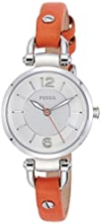 Fossil Women's ES3742 Georgia Analog Quartz Orange Watch