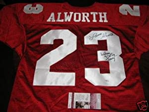 Lance Alworth Signed Uniform - Arkansas hof Jsa coa - Autographed NFL Jerseys by Sports+Memorabilia