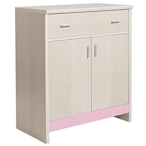 Furniture to Go Fanfair 1 tiroir et 2 portes en mélamine, 86 x 97 x 45 cm (Rose)