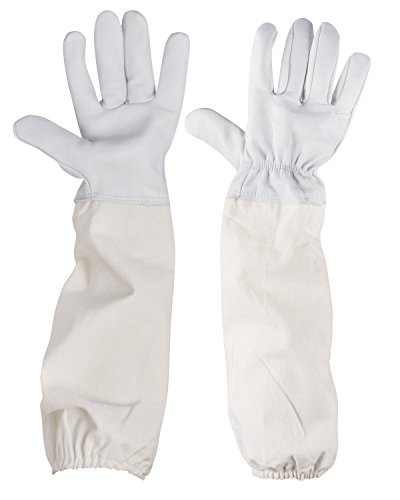 iEFiEL Full-length Beekeeping Protecting Goatskin Leather Gloves Against Bee Stings (Full Fencing Suit compare prices)