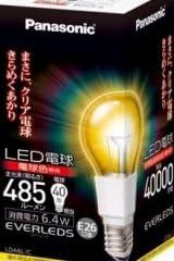 パナソニック LED電球 クリア電球タイプ 6.4W(全光束:485lm/電球色相当)Panasonic EVERLEDS(エバーレッズ) LDA6LC(PA)