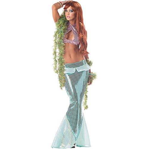 Ladies Sexy Adult Mermaid Costume (Size:Small 6-8)