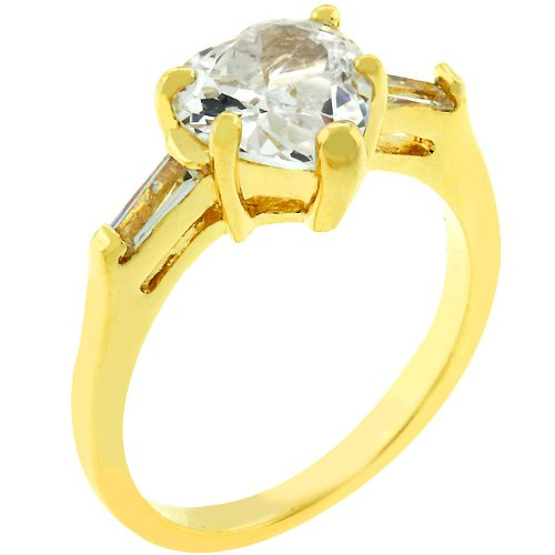 2.5 Carat (ct, cttw, ctw) Heart Cut 14k Gold Plate Cubic Zirconia CZ Anniversary Ring (Size 5,6,7,8,9,10)