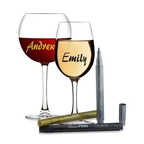 Vino Marker Metallic Wine Glass Pens Pack Of 4 The Frh
