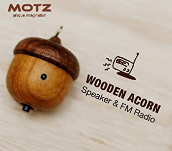 Motz Tiny Wooden Speaker (Bulit-in FM Radio) for iPod and MP3 Player (100% Made in Handicraft)