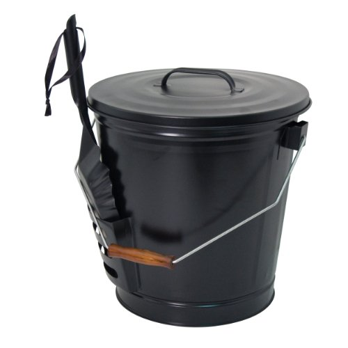 Panacea 15343 Ash Bucket with Shovel, Black image