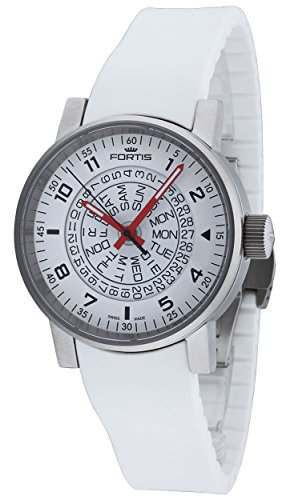 fortis-spacematic-white-red-automatic-day-date-steel-mens-strap-watch-6231052-si02
