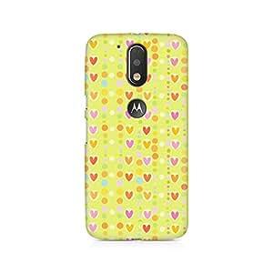 Rubix Customized Designer Hard Back Phone Case of Cute Colorful Hearts for Moto G4 / Moto G4 Plus