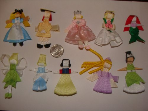 Fancy Ribbon Boutique Hair Clip or Bow - Princess, Story Book and Girly Designs
