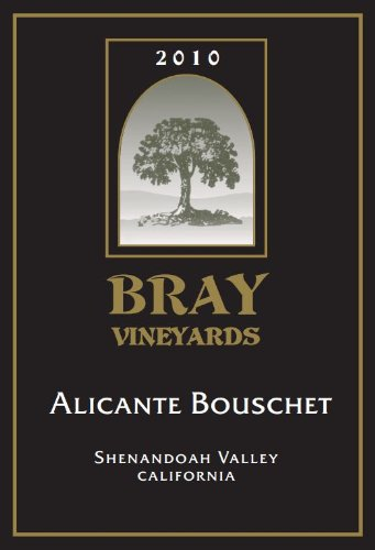 2010 Bray Vineyards Alicante Bouschet Shenandoah Valley California 750 Ml