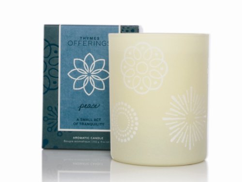 Thymes Offerings Poured Candle, Peace, 9-Ounce Jar