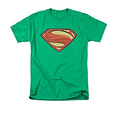 Superman Man of Steel New Green Solid Shield T-Shirt