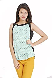 Lady Being Women's Crop Top(CT-SS16-02L_Blue_Large)