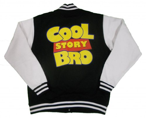 21 Century Clothing Unisex-Baby Cool Story Bro Toy Story Varsity Jacket Medium (7-8 Years) Black