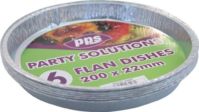 6-x-large-round-foil-flan-dishes-200mm-x-22mm-disposable-tray-free-delivery