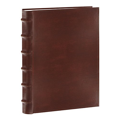 Pioneer Photo Albums CLB-346/BN Sewn Bonded Leather Bi-Directional 300 Photos Pocket Album (Brown)