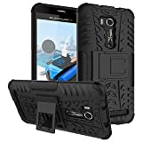 Vinjhraat Kickstand Diffender Cover For Asus Zenfone 3 Max Back Cover In Black Colour