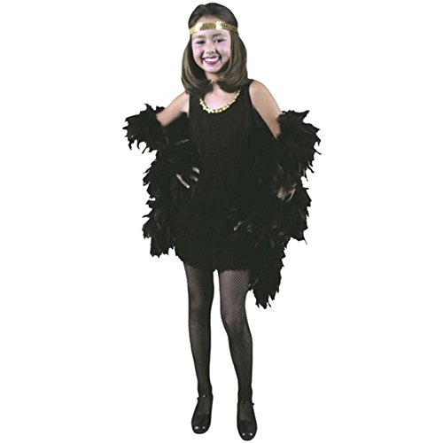 Child's Black Flapper Dress Costume (Size: Large 10-12)