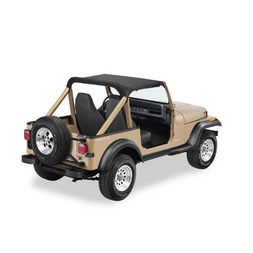 Pacific Brief 97509-15 Strapless Brief Top For Jeep Wrangler - 1986-1991 - Black Denim Color