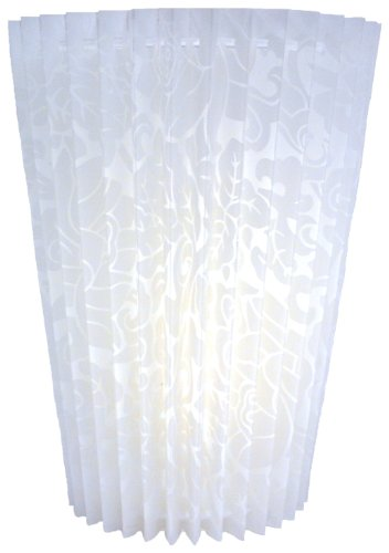 Exciting Lighting HC8100 Battery Operated Faux Fabric Fan Flold Indoor/Outdoor LED Wall Sconce