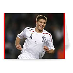 Steven Gerrard - Greeting Card Pack Of 2 - 7x5 Inch - Art247 - Standard Size - Pack Of 2