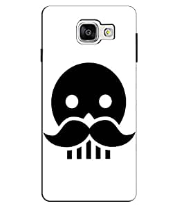 EU4IA Skull With Moustache Pattern MATTE FINISH 3D Back Cover Case For GALAXY A5 (2016) NEW - D133