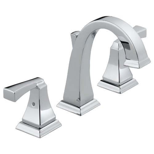 Delta 3551LF Dryden Two Handle Widespread Lavatory Faucet, Chrome