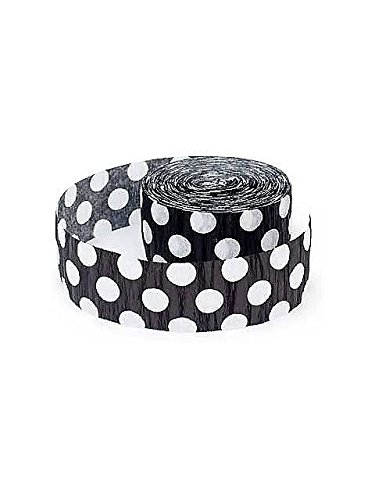Black and White Polka Dot Streamer - 1