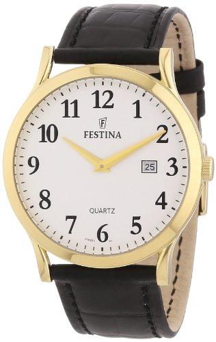 Festina F16522/1 - Reloj analógico de cuarzo para hombre con correa de piel, color negro