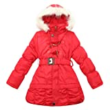 Richie House Girl's Padding Jacket with Hood Rh1118 by Leather Factory Outlet