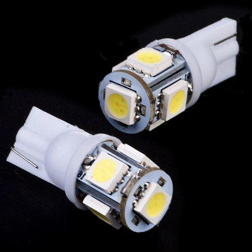 2X 360 Degrees T10 168 194 2825 2825Ll W5W W5Wb 6000K Xenon White 5050 Smd Led Parking Position Eyelid License Plate Light Bulb For 745I Z4 645Ci Z3 M6 Lr3