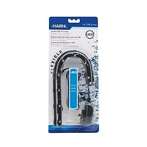 Marina LED Curtain Betta Aquarium Air Pump, 14-Inch, Blue