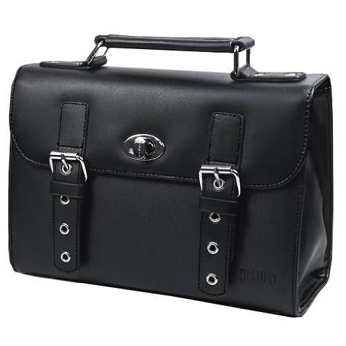 DIABLO セカンドバッグ(ビジネスバッグ) メンズ 牛革 KA-2092 【ブラック×グレー】