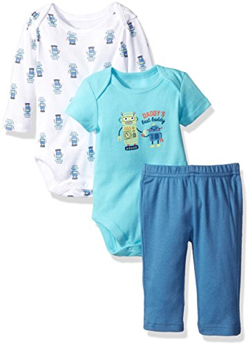The Children's Place Girls' Robot 3pc Playset, Pastel Blue, 0-3 Months (Infant Robot Clothes compare prices)